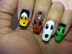 Halloween Kawaii Nails