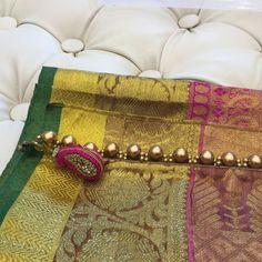 Saree Kuchu New Designs, Saree Tassels Designs, Silk Saree Blouse Designs, Saree Blouse Patterns, Silk Sarees, Simple Blouse Designs, Lehenga Style, Saree Border, Hand Embroidery