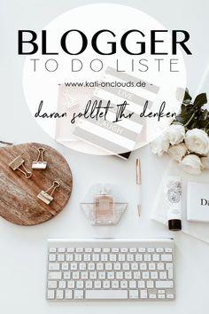 To Do Liste für Blogger: Bloggertipps