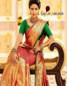 Fabulous Orange and Red Color Designer zarna silk saree – fabbaazar South Indian Sarees, Indian Silk Sarees, Soft Silk Sarees, Bridal Silk Saree, Organza Saree, Wearing Purple, Kanchipuram Saree, Indian Celebrities, Bridal Style