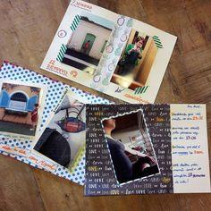 E as páginas do #albumdegravidez vão ficando especiais! #craftdocola - Em meio a fotos de instagram e registros do dia a dia vou colocar lembranças e fatos marcantes. #diariodegravidez #oimigssanchez #descansama #momblogger #vidadegravida #molliemakes #molliemakespaper
