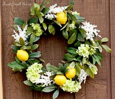 """Once upon a spring (2011), my mom """"commissioned"""" me to make her a springtime wreath based on a lovely lemon bay leaf wreath from Williams-Sonoma. (And, yes, I realize yesterday I said Pottery Barn,…"""