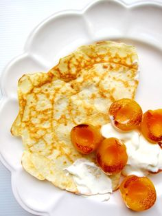 Chubby Hubby - A light and easy breakfast: crêpes adapted from Rachel Khoo