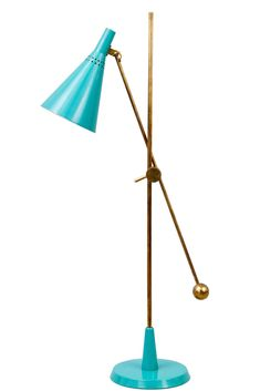 Representation of Cool Turquoise Floor Lamp