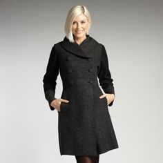 Womens fair trade alpaca and boiled wool coat. Ethical fashion from INDIGENOUS. color: charcoal. #fashiontakesaction