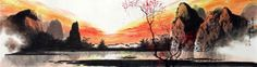 Page 4 Buy Chinese landscape paintings from China & World's Largest Online Chinese Painting Gallery. Asian oriental landscape paintings for sale. Chinese Landscape Painting, Chinese Painting, Landscape Paintings, Chinese Mountains, China World, Warring States Period, Painting Gallery, Paintings For Sale, Art Tutorials