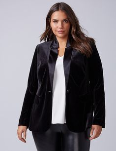 The Bryant Blazer - Velvet | Lane Bryant