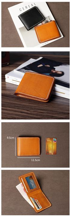 LEATHER WALLET, MEN'S LEATHER WALLET, A HANDMADE BI-FOLD LEATHER WALLET, LEATHER BILLFOLD WALLET