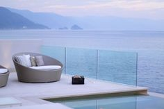 Ocean view, check, infinity edge pool, check, modern styling, check, me owning it, for some reason not yet.