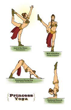 Princess Yoga #starwars