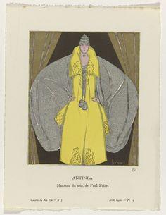 Gazette du Bon Ton, 1920 - No. 3, Pl. 19: Antinéa / Manteau du soir, de Paul Poiret, anoniem, Paul Poiret, Lucien Vogel, 1920