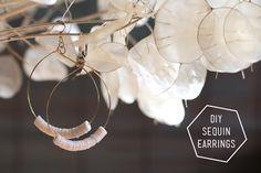 DIY Sequin Earrings