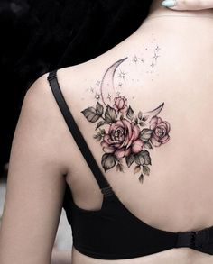 Beautiful Flowers Tattoo Girl Back Tattoos, First Tattoo, Piercing Tattoo, Future Tattoos, Henna, Tatting, Body Art, Tattoo Female, Tattoos