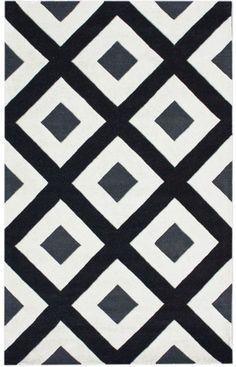 nuLOOM Black Soel | Contemporary Rugs. home decor, print, design, decor, style, modern, home, house, contemporary, interior design.