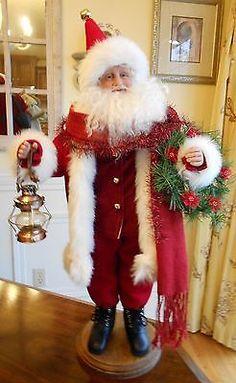OOAK Traditional Santa Art Doll Original Sculpt by Karen Vander Logt | eBay