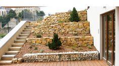 Természetes terméskő támfal/ Natural stone wall