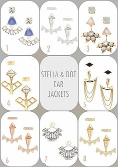 Ear Jackets! #trend Stella & Dot! Shop here: www.stelladot.com/sites/ashleydejong