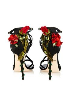 Dolce & Gabbana Rose-embellished multi-strap sandals
