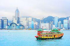 Traditional chinese boat,Hong Kong