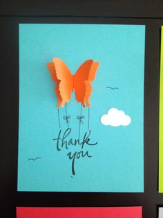 Butterfly Thank You Notecards with Envelope by WaterHorseStudios
