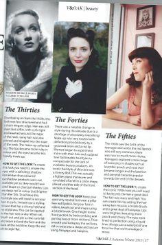 Amanda from Lipstick and Curls has written an article for Autumn/ Winter V&Oak on Vintage beauty from the 20s to the 80s. Hair & makeup Lipstick and Curls www.lipstickandcurls.net