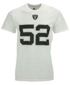2715058c7 Majestic Men s Khalil Mack Oakland Raiders Eligible Receiver Iii T-Shirt -  White XL Oakland