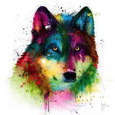 Wolf Art Print by Patrice Murciano Pop Art, Murciano Art, Frames On Wall, Framed Wall Art, Images Roi Lion, Patrice Murciano, Wolf Artwork, Wolf Canvas, Art Moderne