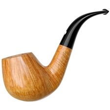 HAND MADE WOODEN TOBACCO SMOKING PIPE  no 33  Rustic Orange   PEAR Filter