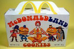 1970's McDonaldland Cookies Box