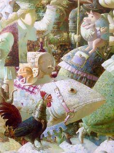 © Anna Berezovskaya Oil on canvas, detail