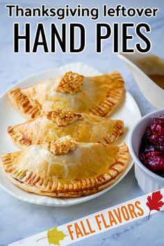 These cute Thanksgiving leftover hand pies are an easy way to use up your holiday leftovers! Combine turkey, stuffing, sweet potatoes, cranberry sauce and gravy along with whatever else you like in pie dough. These hand pies cook up in minutes in an air fryer and are a delicious portable dinner. Thanksgiving Food Crafts, Thanksgiving Leftovers, Turkey Soup, Turkey Stuffing, Turkey Gravy, Refrigerated Pie Crust, Bowl Of Soup, Mashed Sweet Potatoes, Cranberry Sauce