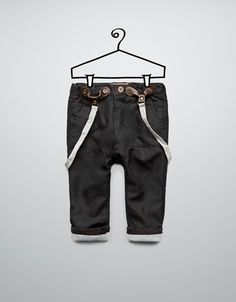 check trousers with braces - Trousers - Baby boy (3-36 months) - Kids - ZARA United States