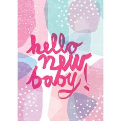Hello New Baby – Pink| Card