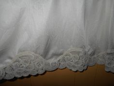 Vintage half slip lingerie Nylon and lace slinky and silky