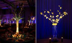 Floral Centerpiece Lighting in Orlando, Florida by Kaleidoscope Event Lighting #weddingcenterpiece #weddingcenterpieces #centerpiecelighting #centerpiece #pinspot #pinspotlighting #floralcenterpiece #uniquecenterpieces #weddingdecor
