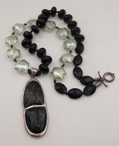 Rare NUUMMITE or ASTROLPHYLLITE NecklaceFaceted by MOUNTAINPOODLE