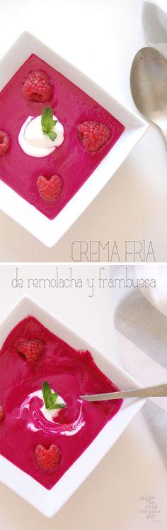 Crema fría de remolacha y frambuesa