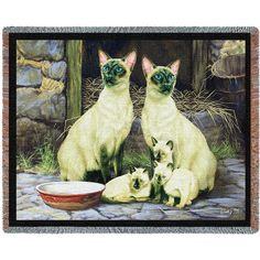 """Artwork by Robert May. 54"""" width x 70"""" length Jacquard woven 100% cotton art tapestry. Not a print. Fringed. Made in the USA. If not in stock, please allow up to 4 weeks for production in addition to"""