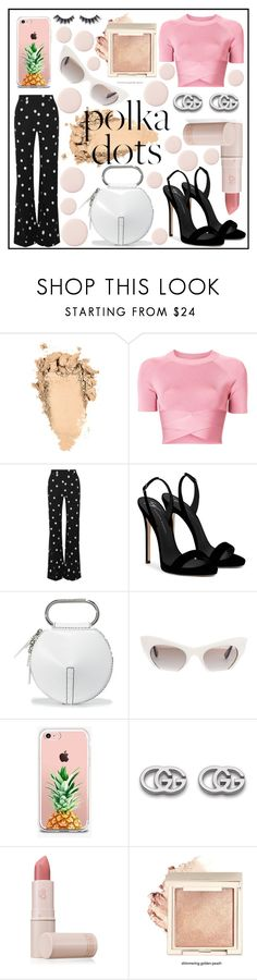 """""""POLKA DOTS"""" by francysanp ❤ liked on Polyvore featuring T By Alexander Wang, Monse, Giuseppe Zanotti, 3.1 Phillip Lim, Miu Miu, The Casery, Gucci, Lipstick Queen, Violet Voss and Pink"""