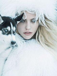 fur, girl & dog