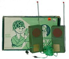 """Army-Walkie-Talkies An unusual feature, common on children's walkie-talkies but seldom available otherwise even on amateur models, is a """"code key"""", that is, a button allowing the operator to transmit Morse code or similar tones to another walkie-talkie operating on the same frequency"""