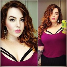 Tess Munster is wearing a gorgeous strappy bra under our killing moon crop top. This is a great way to make this crop top your own unique style. Check out dominodollhouse.com.