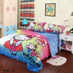 Family Multicolor Hello Kitty Bedding Set