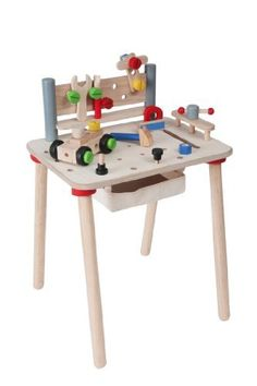 PlanToys Work Bench by Plan Toys. $76.44. Back panel can also be used as a tool holder. Simple instructions are included. Construction parts can be placed on both the table and back panel. From the Manufacturer                This set includes 6 tools, 27 construction parts and a removable storage unit. Construction parts can be placed on both the table and back panel. Back Panel can also be used as a tool holder. The wood clamp included in this set is designed to be used by ...
