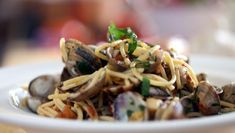 Spaghetti with Clams and Chilli by The Hairy Bikers From Hairy Bikers' Best of British via BBC Food. Clam Recipes, Pasta Recipes, Dishes Recipes, Chili Recipes, Wine Recipes, Seafood Pasta Dishes, Pasta Sauces, Seafood Salad, Mornay Recipe