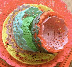 crochet bowls ~ Love this! Must make for potpourri...