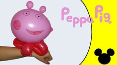 Video tutorial on how to make a Peppa Pig bracelet with balloons twisting #bracelet #Peppa #PeppaPig