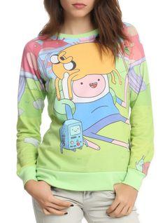 Adventure Time Finn Jake BMO Girls Pullover   Hot Topic