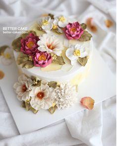 Done by me / BETTER CAKE Beanpaste Flower cake www.better-cakes.com  U can learn all these bean paste flowers from BETTER's brand new class   Mailbettercakes@naver.com Linebetter_cake FacebookBetter Cake Kakaotalkleesumin222  #buttercream#cake#베이킹#baking#bettercake#like#버터크림케이크#베러케익#cupcake#flower#꽃#sweet#플라워떡케익#koreabuttercream#떡케이크#beanpaste#디저트#buttercreamcake#dessert#버터크림플라워케이크#follow#food#koreancake#beautiful#flowerstagram#instacake#wilton#앙금플라워#instafood#flowercake