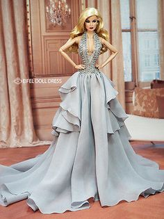 Eifeldolldress EFDD 0237 Fashion royalty evening dress gown barbie silkstone FR